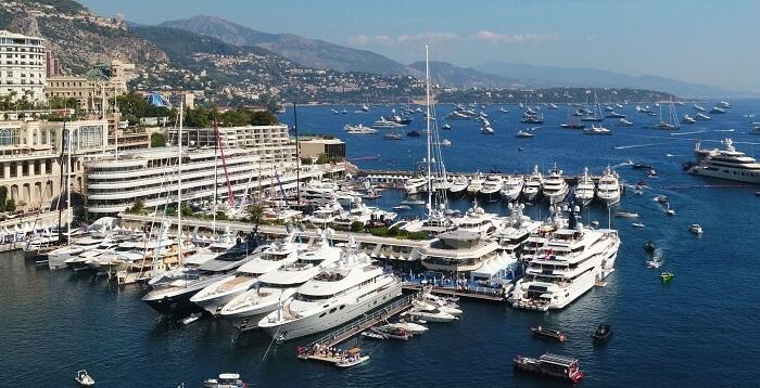 Barcos na Marina de Mônaco