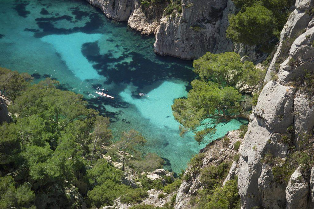 Mar do Calanque D'En-Vau na França