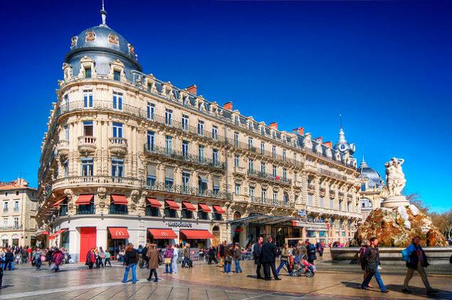 Place de la Comédie em Montpellier