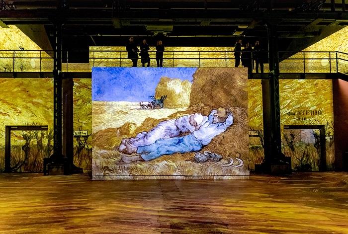 Arte de Van Gogh na exposição interativa