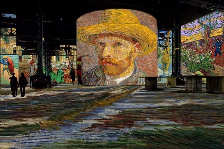 Entrada da exposição de Van Gogh em Paris