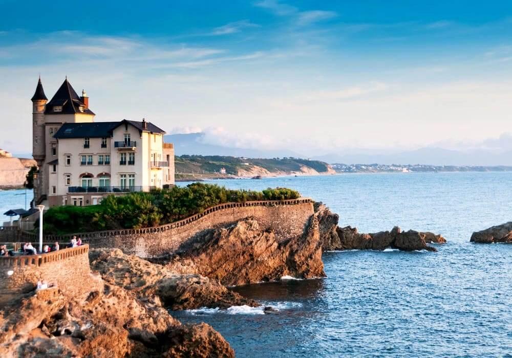 Penhasco em Biarritz