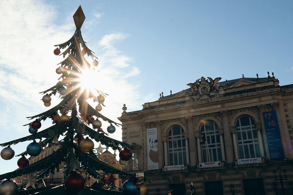 Natal na Place de la Comédie em Montpellier