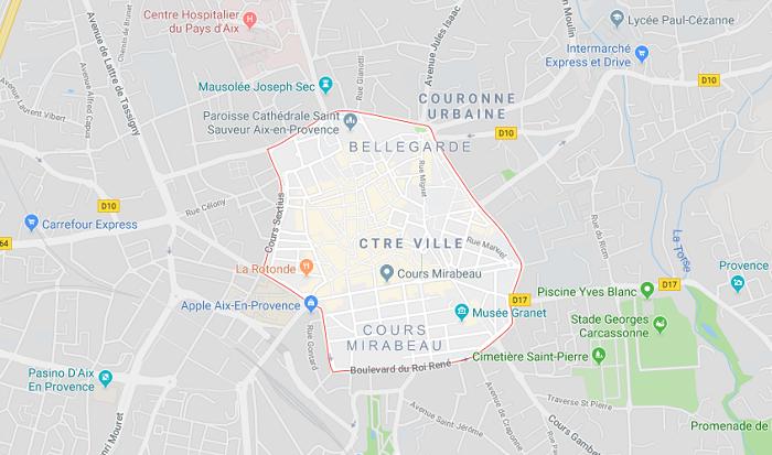 Mapa da Aix