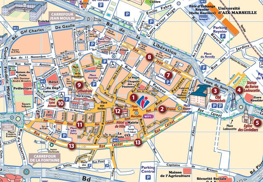 Mapa de Aix