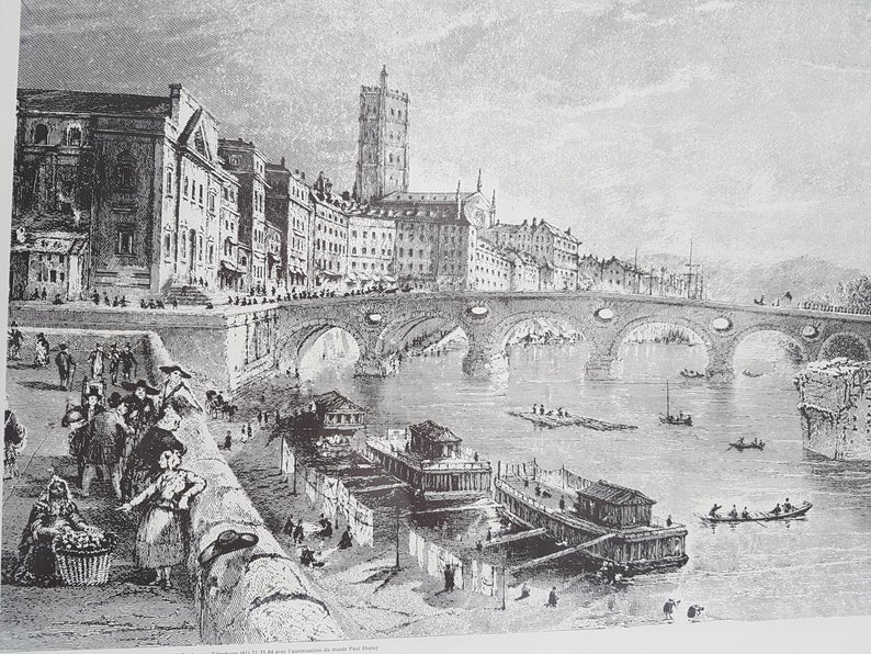 Foto antiga Pont Neuf em Toulouse