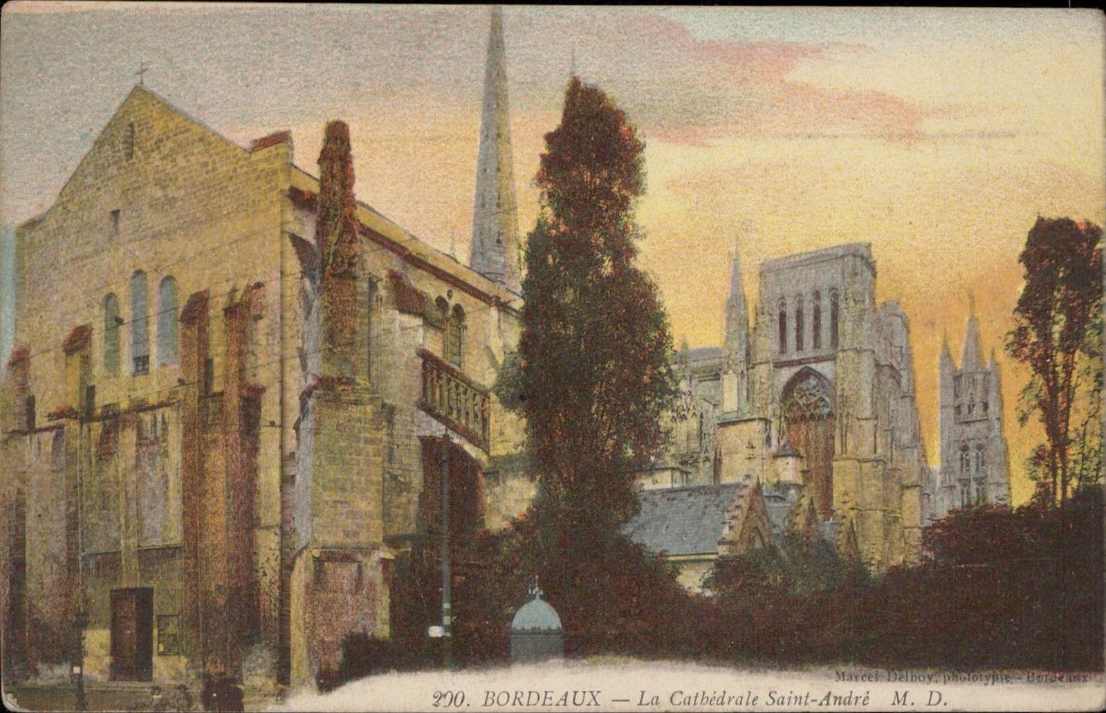 Foto antiga da Catedral de Bordéus