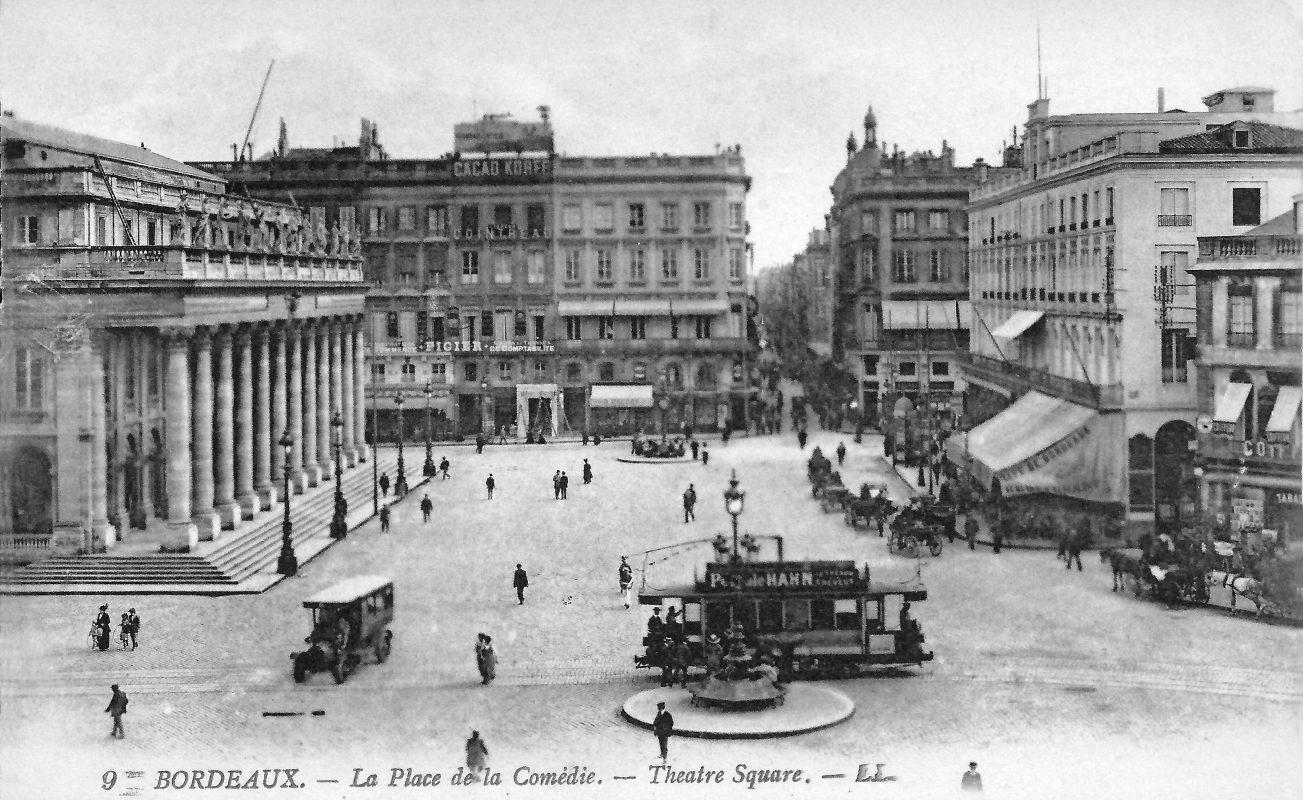 Foto antiga do Grand Théatre em Bordéus