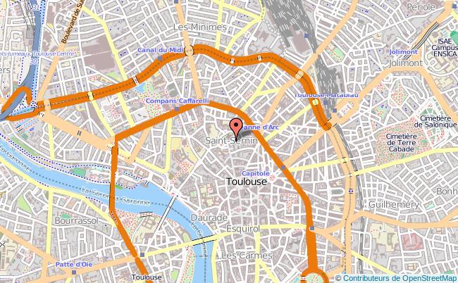Mapa do Museu Saint-Raymond em Toulouse