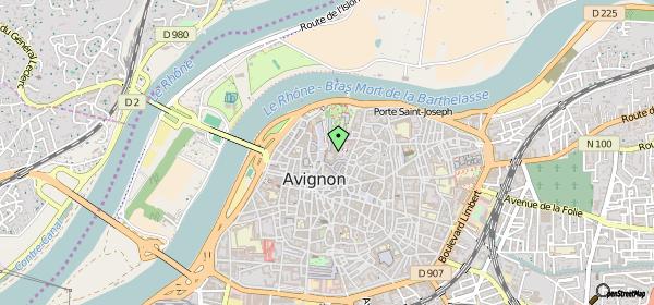 Mapa do Museu do Petit Palais em Avignon