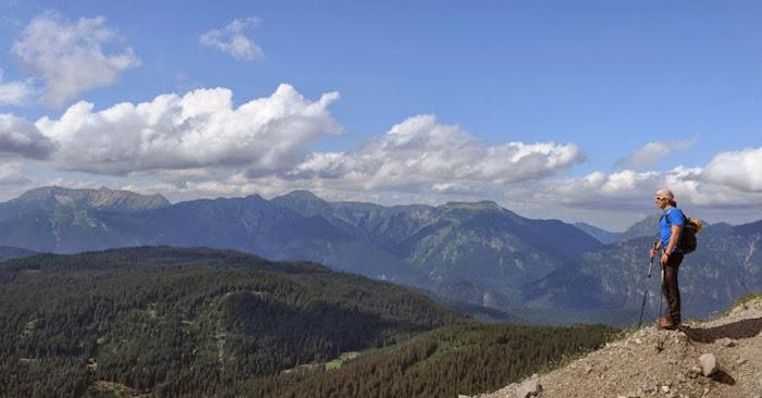 Vista numa montanha da Alemanha