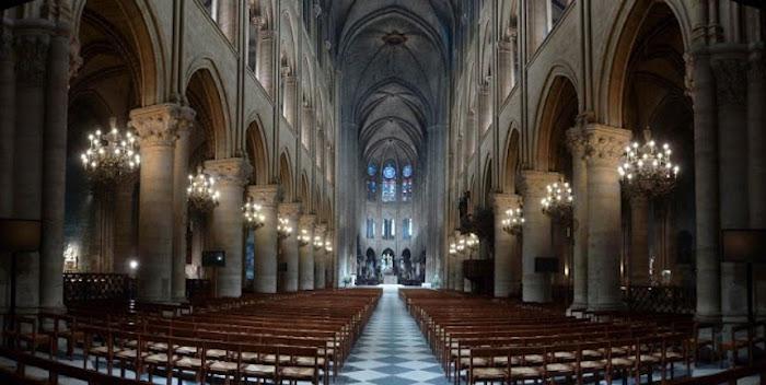 Interior Catedral Notre Dame em Paris