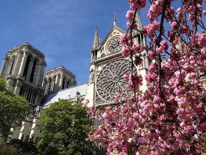 Clima de primavera em Paris