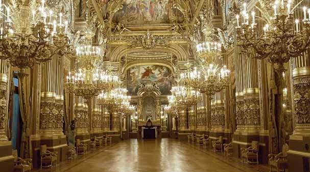 Salão Ópera Garnier em Paris