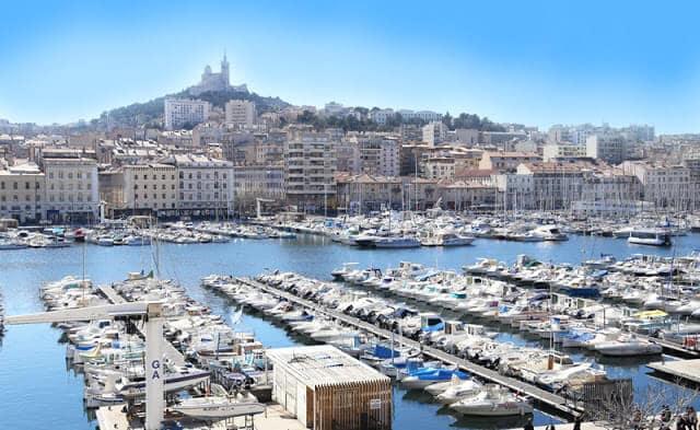 Porto velho em Marselha vista