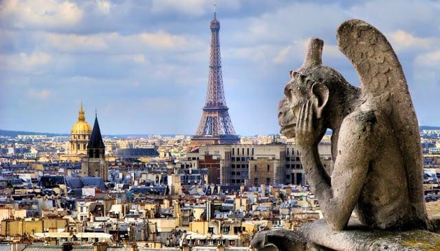 Vista da Notre-Dame em Paris