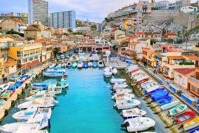 Vista do Porto Velho em Marselha