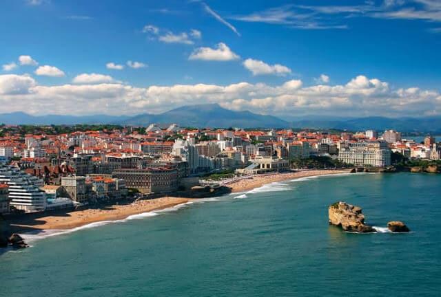 Vista da cidade de Biarritz