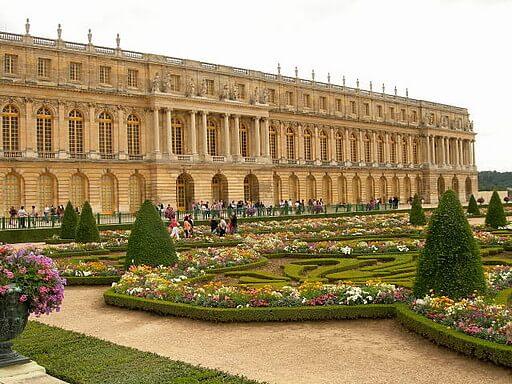 Construção histórica de Versalhes em Paris