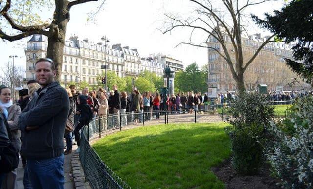 Filas de museus em Paris