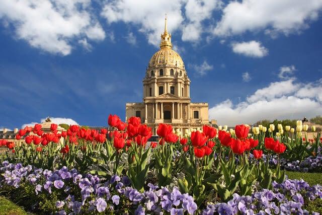 Flores na primavera em Paris