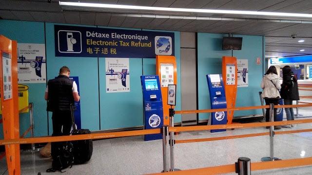 Detaxe eletrônico em Paris
