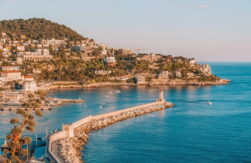 Bela vista da Costa Azul
