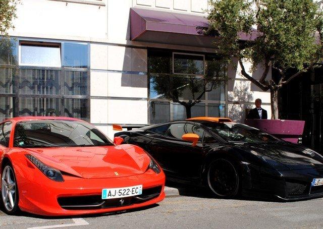 Carro de luxo em Cannes