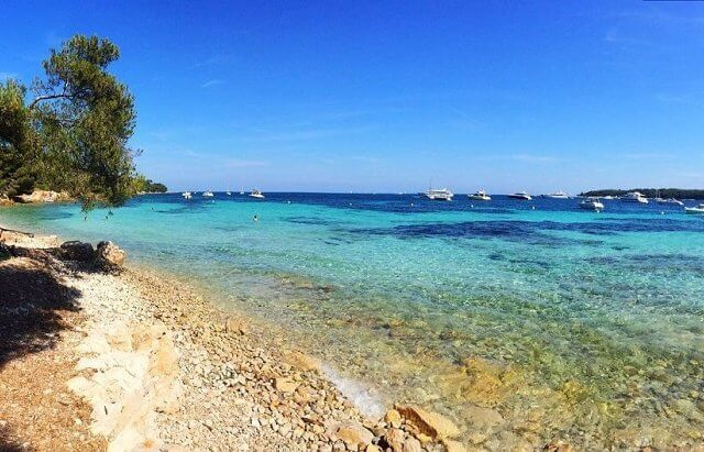 Praia da Île de Sainte Marguerite