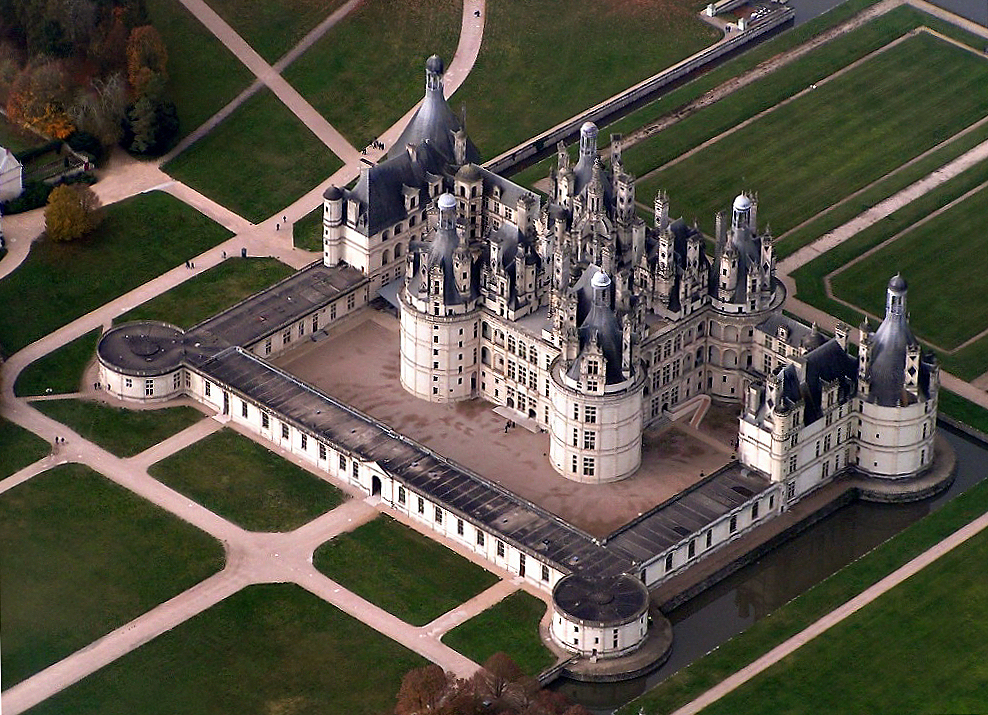 Vista de cima do Castelo Chambord