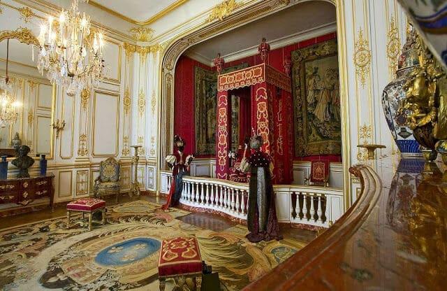 Interior do Castelo Chambord no Vale do Loire na França