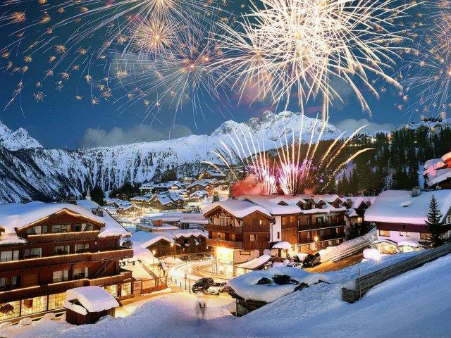Ano novo em Courchevel