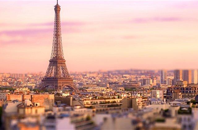Entardecer em Paris