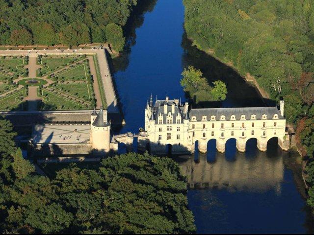 Vista aérea do Castelo de Chenonceau