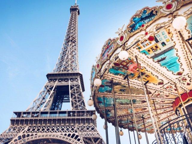 Vista da torre em Paris