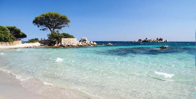 Praia Palombaggia na França