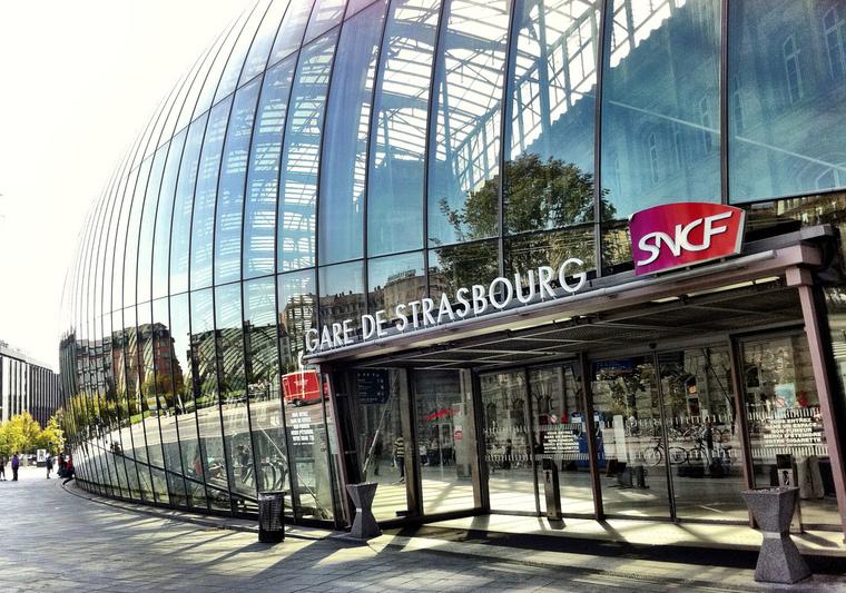 Viagem de trem de Estrasburgo a Paris