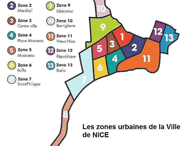 Mapa turístico de Nice