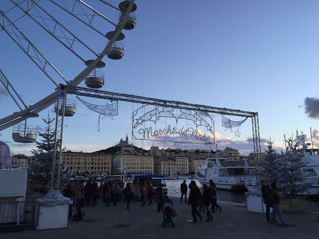 Mercado de Natal em Marselha
