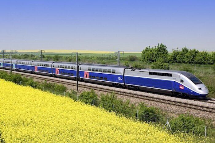 Viagem de trem pela França