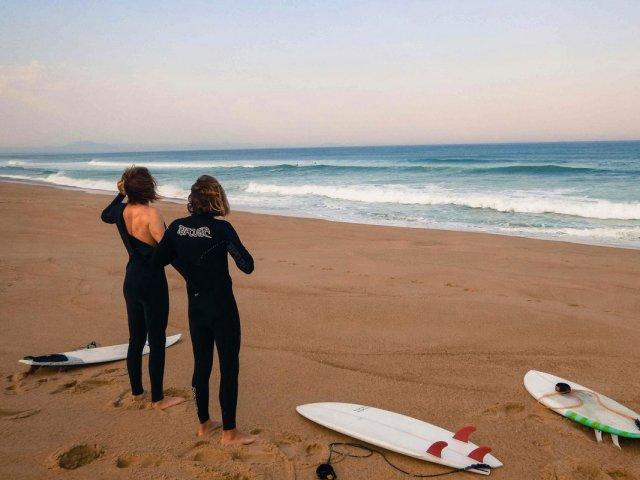 Surfar em Biarritz