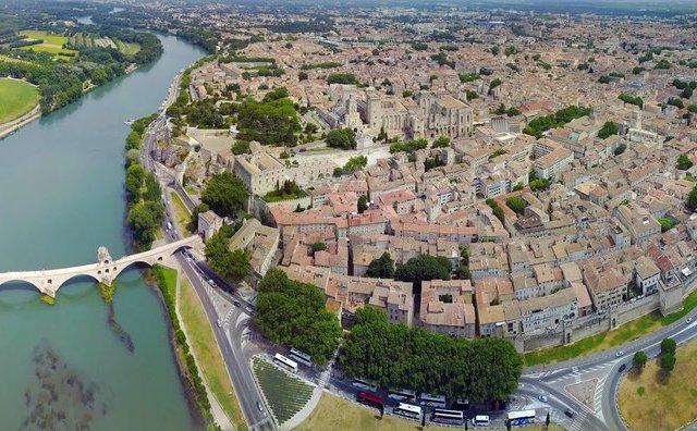 Vista aérea de Avignon