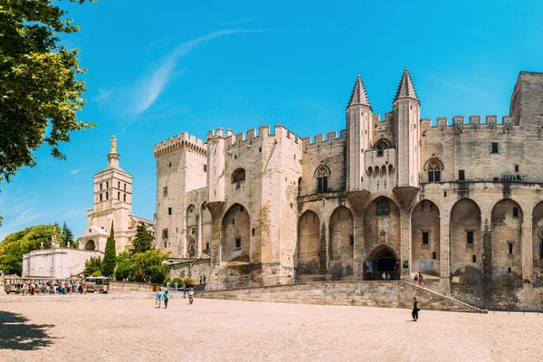 Palácio dos Papas em Avignon de dia