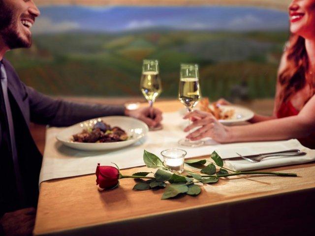 Jantar romântico em Avignon