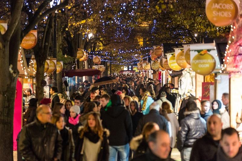 Mercado natalino em Bordéus