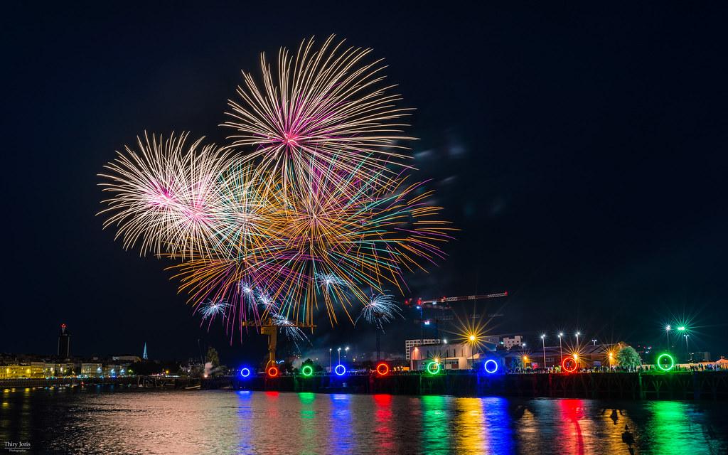 Fogos de artifício em Nantes