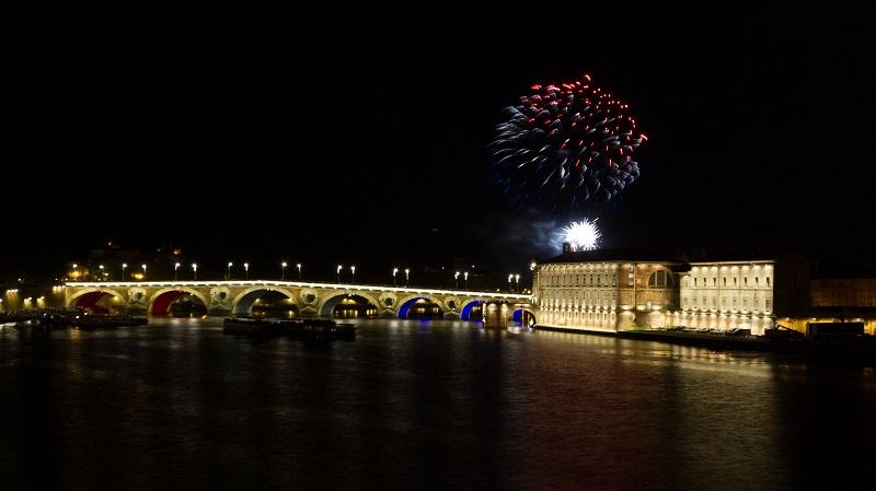 Fogos de artifício em Toulouse