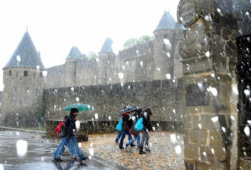 Carcassonne no Inverno